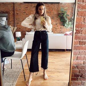 Zara Cropped High Waist Wide Leg